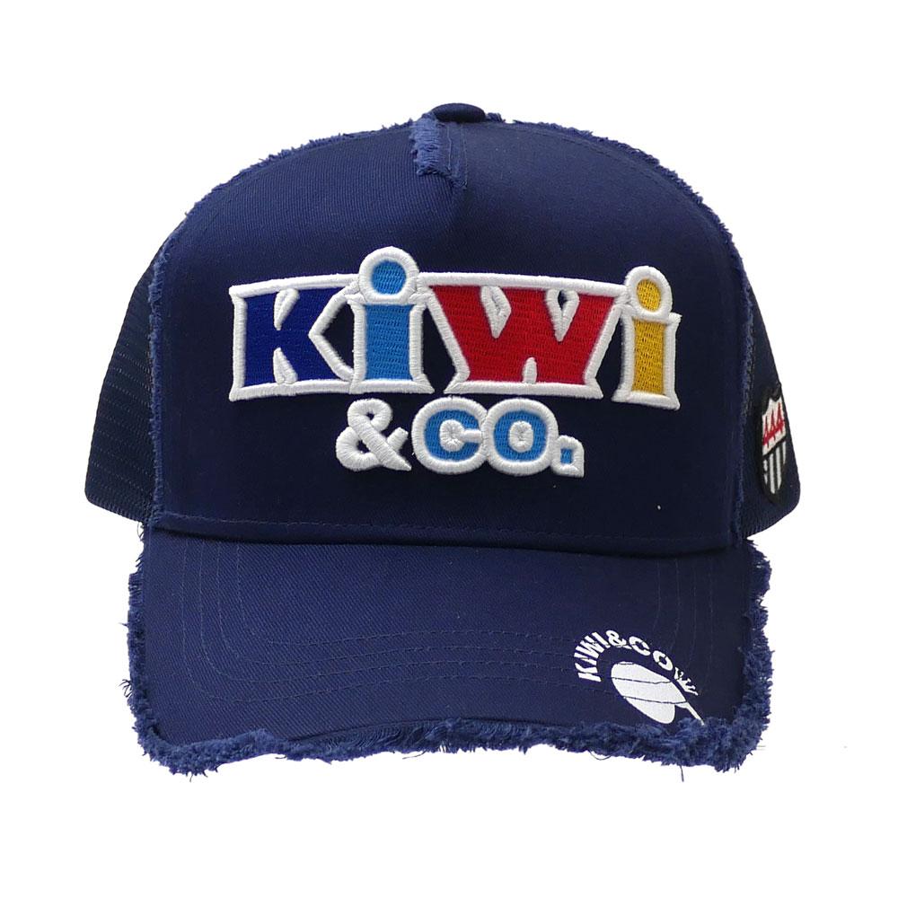 新品 ヨシノリコタケ YOSHINORI KOTAKE x キウィアンドコー KIWI&CO. TWILL MESH CAP 2 キャップ NAVY ネイビー 紺 メンズ 新作