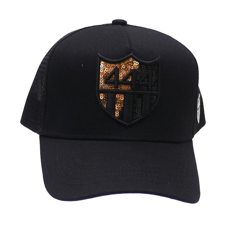 新品 ヨシノリコタケ YOSHINORI KOTAKE x バーニーズ ニューヨーク BARNEYS 新作 数量は多 MESH GOLD 即納最大半額 CAP NEWYORK BLACK SPANGLE 444LOGO