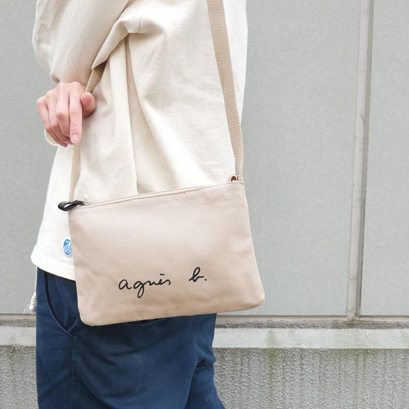 新品 アニエスベー ボヤージュ agnes b. VOYAGE ロゴ ベージュ BEIGE メンズ 受注生産品 爆売りセール開催中 新作 サコッシュ レディース