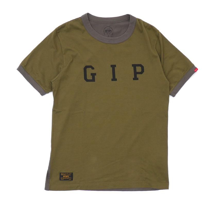 【Sサイズ】 ダブルタップス WTAPS GIPSTORE 限定 RINGER SS TEE Tシャツ OD メンズ 334000178035 【中古】 半袖Tシャツ