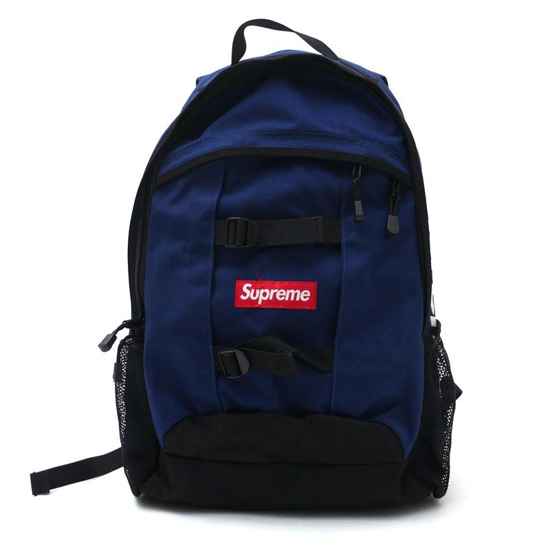シュプリーム SUPREME 14SS BACK PACK バックパック NAVY ネイビー 紺 メンズ FREEサイズ 【中古】 2014SS 176000358014 (グッズ)