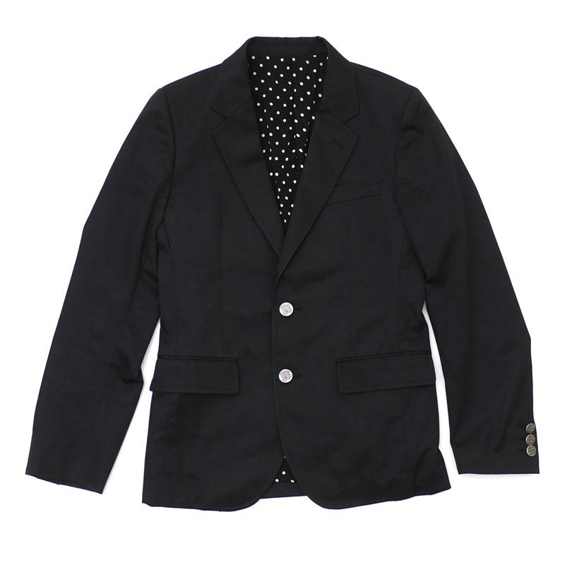 ワコマリア WACKO MARIA TAILORED JACKET テーラード ジャケット BLACK ブラック メンズ Sサイズ 【中古】 130003237031 (OUTER)