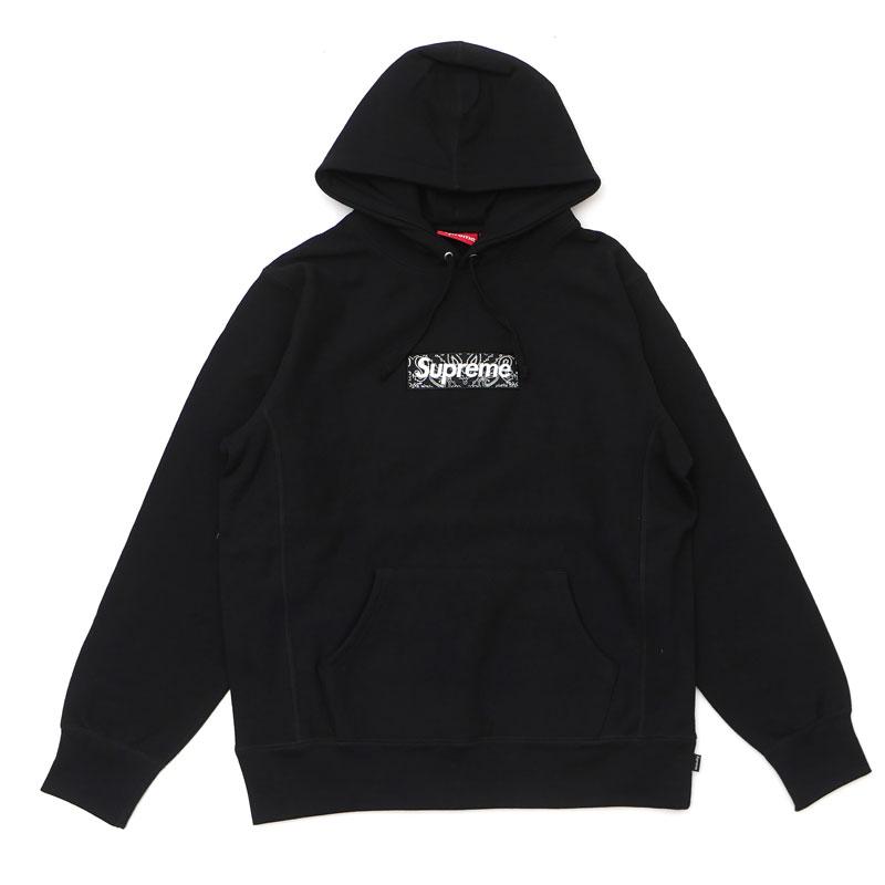 新古品/未使用 シュプリーム Supreme 19FW Bandana Box Logo Hooded Sweatshirt バンダナ ボックスロゴ フーディー スウェット パーカー BLACK ブラック メンズ Mサイズ 2019FW 111001481 (SWT/HOODY)
