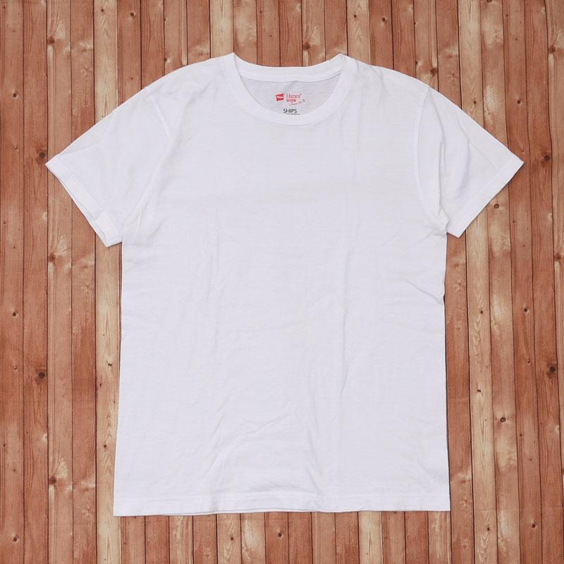 シップス SHIPS 迅速な対応で商品をお届け致します ヘインズ Hanes 業界No.1 Japan Fit Tee Tシャツ 中古 半袖Tシャツ Sサイズ 104003304 WHITE ホワイト メンズ