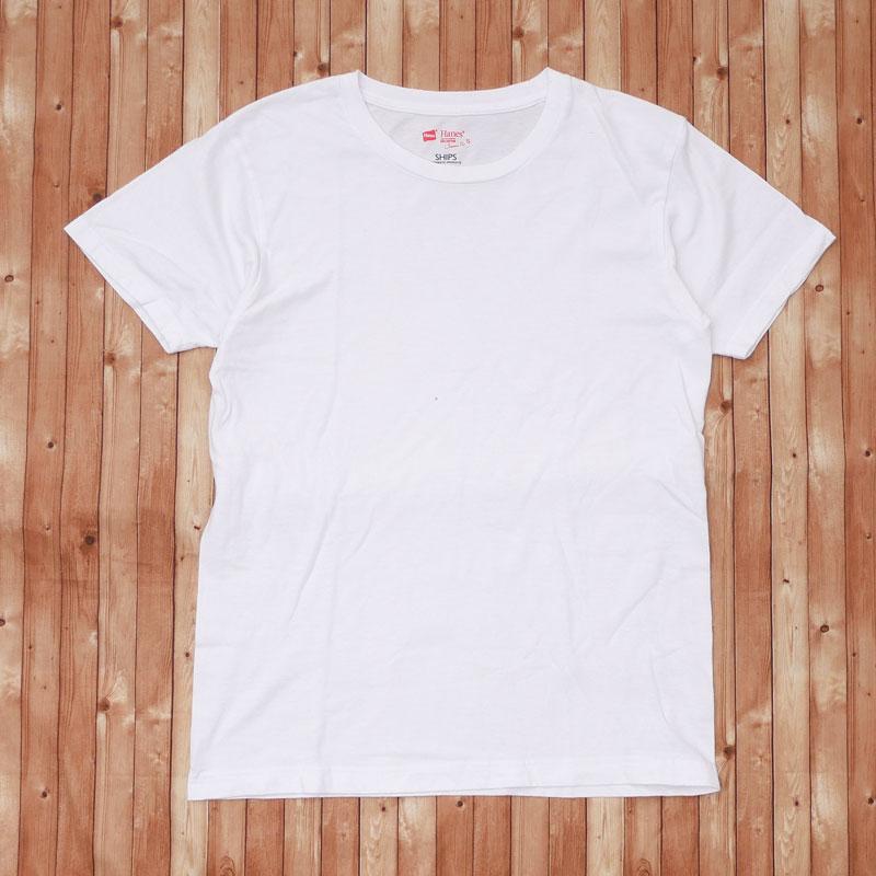 シップス SHIPS ヘインズ Hanes Japan Fit Tee Tシャツ 104003303 WHITE 半袖Tシャツ メンズ 中古 Sサイズ 送料無料 激安 お買い得 2020 新作 キ゛フト ホワイト