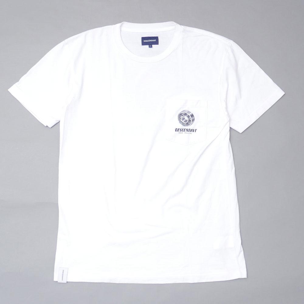 ディセンダント DESCENDANT MFG CREW NECK 新生活 SS 新品未使用 Tシャツ 中古 ホワイト メンズ WHITE 半袖Tシャツ サイズ1 104003354