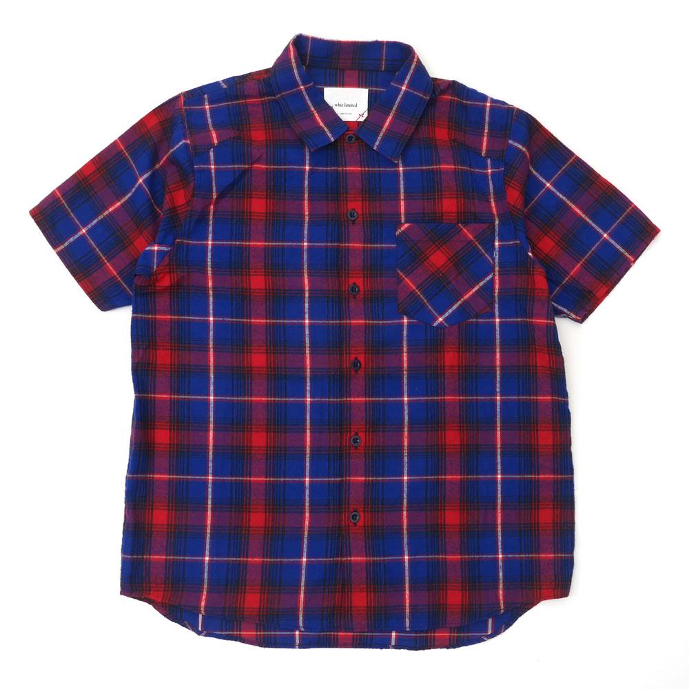 限定価格セール ウィズリミテッド WHIZ LIMITED Check SS Shirt チェック 半袖シャツ 115001647044 ブルー 営業 TOPS メンズ 中古 BLUE Mサイズ
