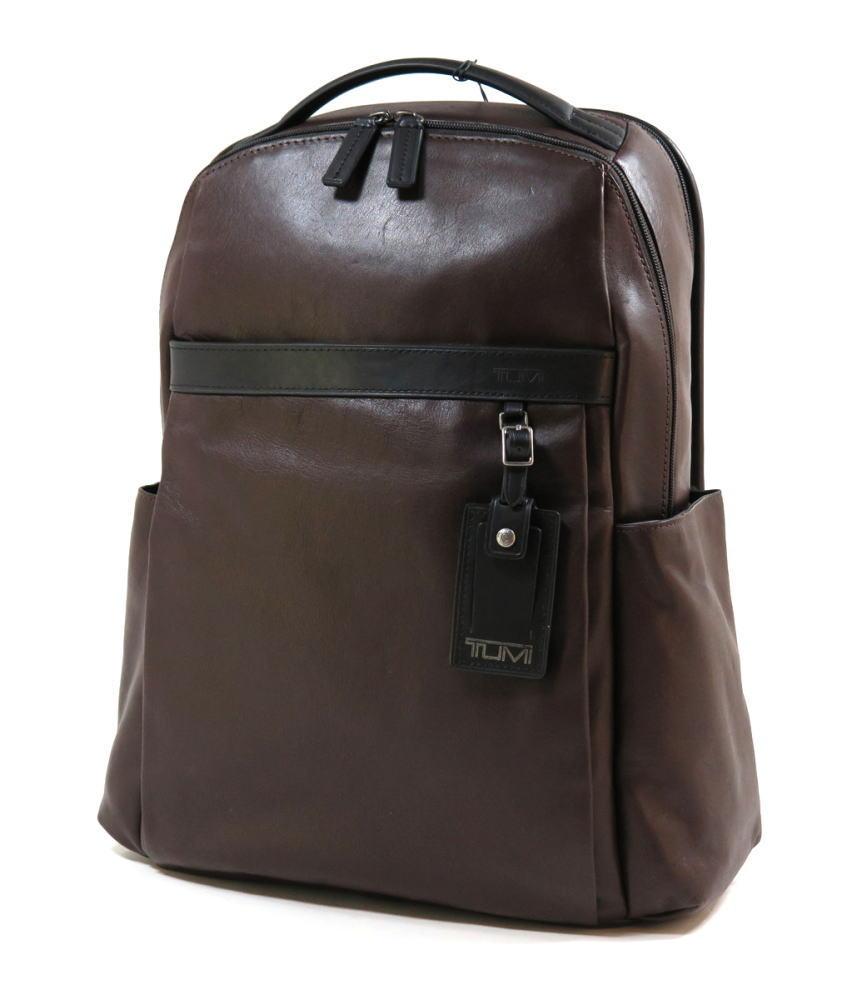 TUMI トゥミ 本革 総レザー 69780 Clayton Backpack ビジネス リュックサック バックパック PC収納可能 茶・黒 BROWN・BLACK / 490