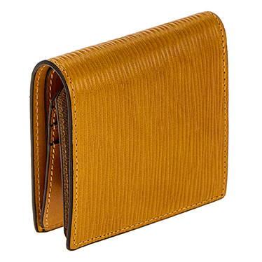 SONNE(ゾンネ)TATAMI ベジタブルタンニンレザー型押し 二つ折り財布