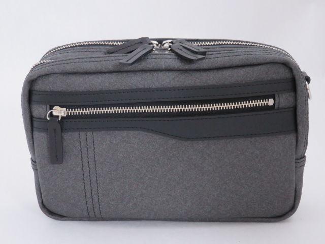 Kiwada (木和田) PVCレザー 2WAY セカンドバッグ / ショルダー A5サイズ対応 横型 / 豊岡鞄