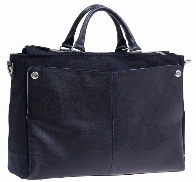 織人 CORDURA(コーデュラ) レザー コンビ ビジネスバッグ / 豊岡鞄