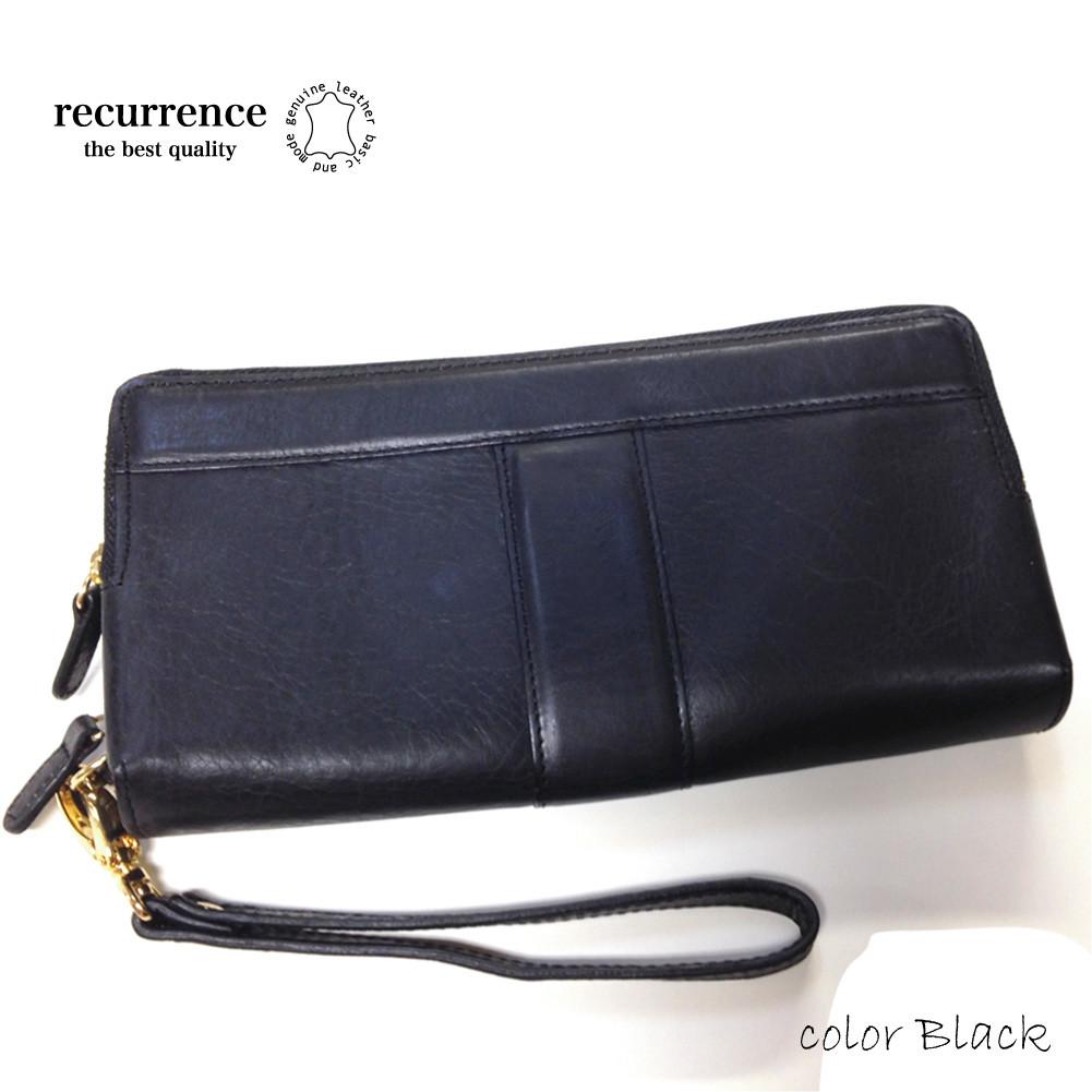 recurrence(リクレンス)イタリアンレザー ダブルジップ ロングウォレット / 長財布