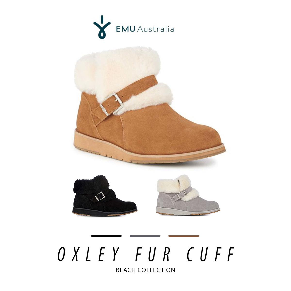 ムートン ブーツ ファー エミュ エミュー EMU Oxley Fur Cuff W11698 オックスレーファーカフ レディース メンズ 2018 秋冬 送料無料