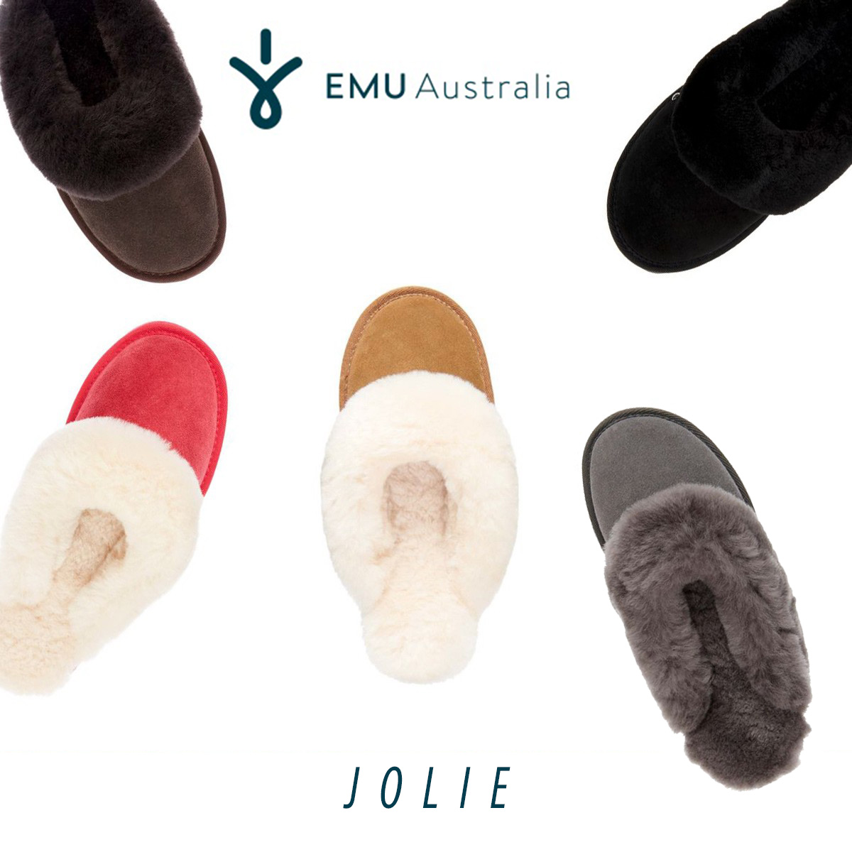ムートン サンダル スリッパ ルームシューズ ファー エミュ エミュー EMU Jolie ジョリー W10015 ボア レディース もこもこ 野外兼用 2018 送料無料