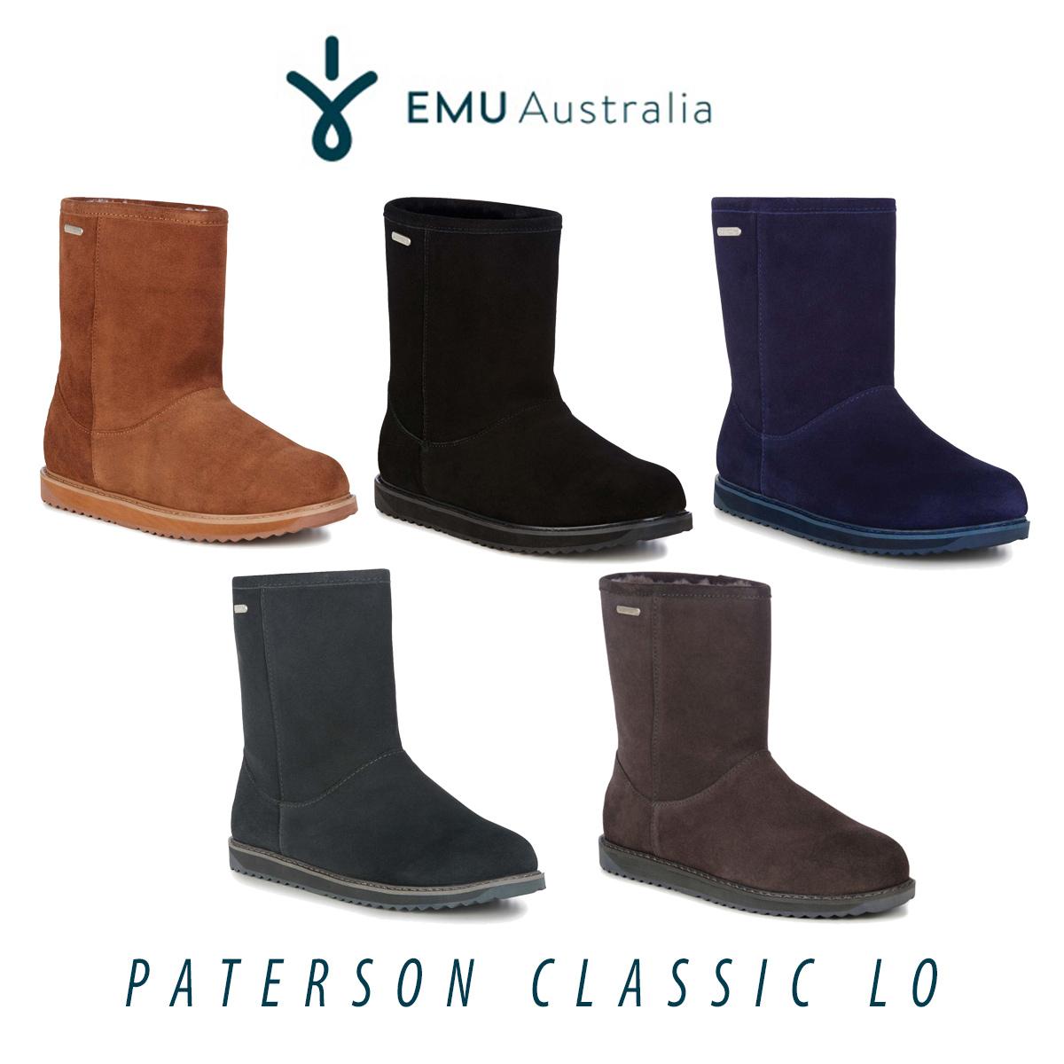 ムートン ブーツ シープスキン 防水 エミュ エミュー EMU パターソンクラシック Paterson Classic lo W11590 ボア レディース メンズ 2018 秋冬 送料無料
