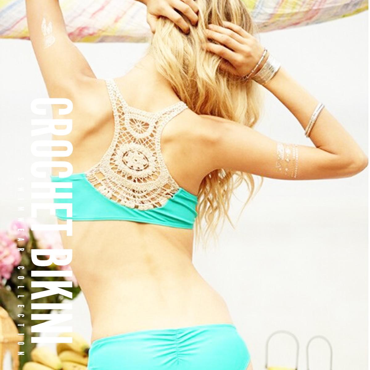 インポート ビキニ 水着 レディース ビーチ トレンド バック スタイル フィットネス クロシェ 新作通販 ◆高品質 ズンバ かぎ編み bikini ヨガ セール