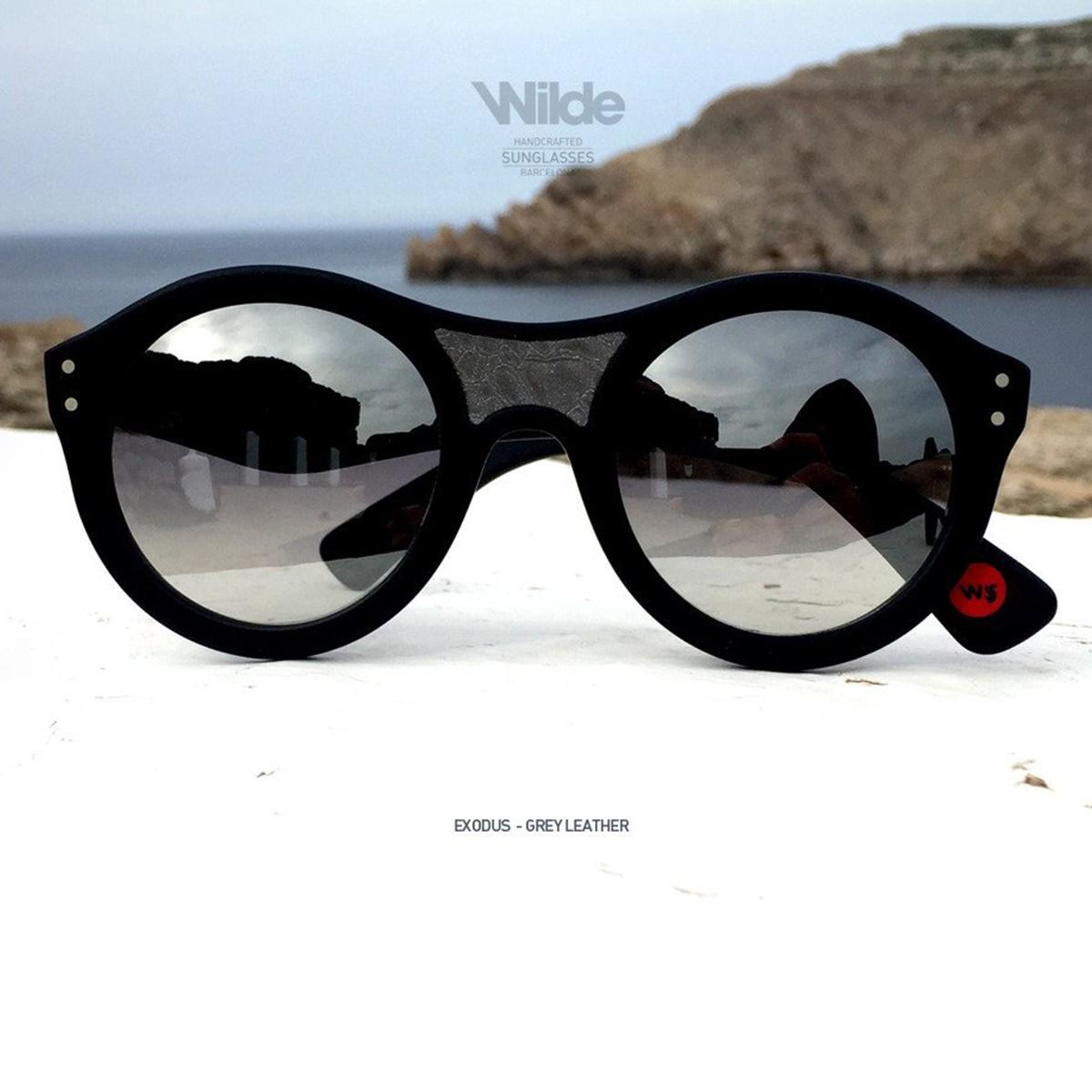 サングラス レディース メンズ Wilde SUNGLASSES ワイルドサングラス EXODUS ブラック レザー BLACK MATTE 送料無料