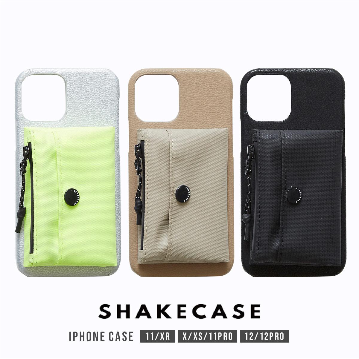 SHAKECASE スマートフォン アイフォン スマホケース 超安い iPhone12 12pro iPhone11 iphoneXR iPhone11pro ポーチ ユニセックス カードホルダー 日本最大級の品揃え お財布 シェイクケース 送料無料 メンズ レディース メール便