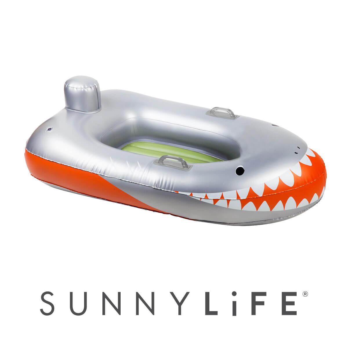 SUNNY LIFE ボートフロートシャークアタック ボート 浮き輪 サメ 海外品 マリンスポーツ ビーチ サニーライフ フロート プール 新作続 インスタ映え オープニング 大放出セール 持ち運び 海水浴 アウトドア