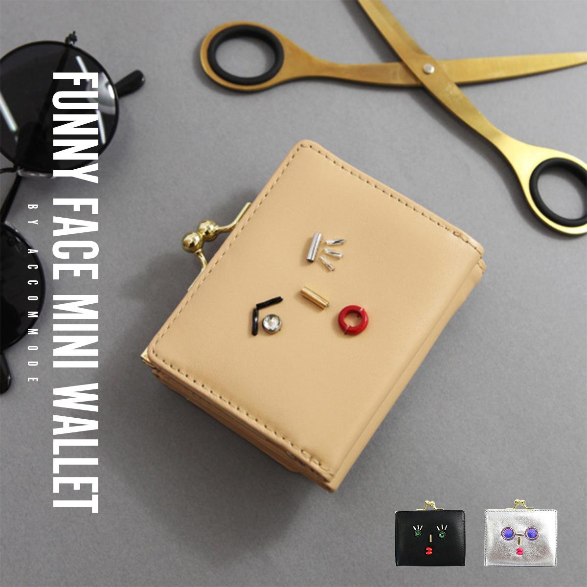 c1e11bfc6e26 accommode ウォレット 財布 がま口 口金付き 小銭入れ 三つ折り 財布 ...