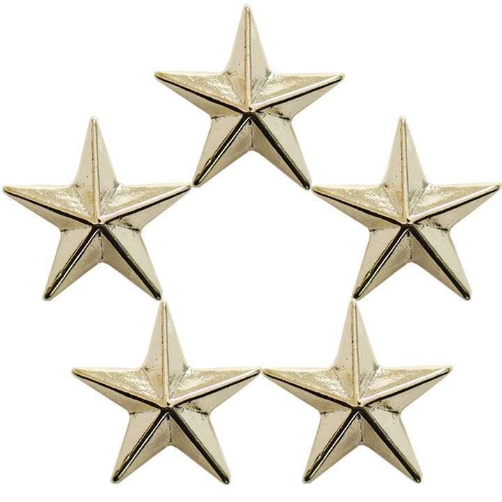 ラペルピン/ピンブローチ/ブローチ/ピン 【メール便送料無料】5個セット 星型 大サイズ スタースタッズ ピンバッジ◎ゴールド[5816851]