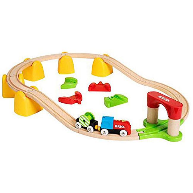 【トレインセット】 ブリオ BRIO マイファーストバッテリーパワーレールセット 33710【出産祝い/木のおもちゃ/つみき/知育玩具/積み木/汽車/セット/ギフト】