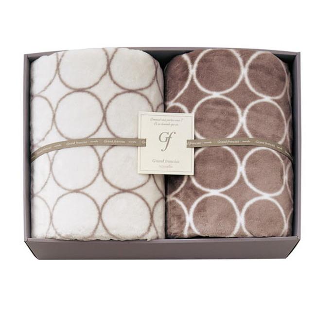 グランフランセヌーベル ハイソフトタッチ マイヤー毛布 2枚セット (GFN8206) 【シングルサイズ 肌触り抜群 やわらか毛布 シンプルでおしゃれなデザイン 高級寝具 激安特価 ギフト】