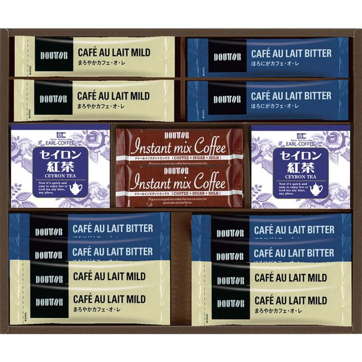 フリーメッセージ無料 人気カフェ ドトールのコーヒーと紅茶のセット ドトール スティックコーヒー 紅茶 コーヒー 珈琲 DST-BO ラッピング無料 本格的 ティータイム 美味しい 定番 ドトールスティックコーヒー紅茶コレクション ギフト ティーバック