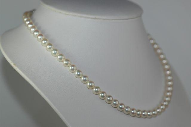 あこや真珠ネックレス・5.5~6mm玉 42.5cm【送料無料】