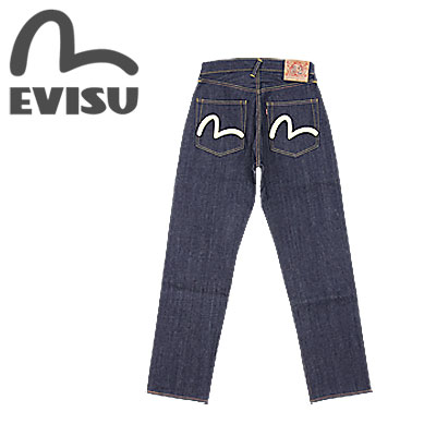 ebcd8fdefe80 EVISU (evisu jeans) No2 2001-WH W29-W36 ☆ Sea gull white print  NO.2 2001 ☆   Made in JAPAN  (Raw Unwashed) (Thick Straight fit)