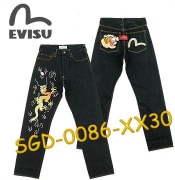 【裾上げ無料!】EVISU SGD-0086-XX30 刺繍ジーンズ (エヴィス/ジーンズ/デニム/エビス)