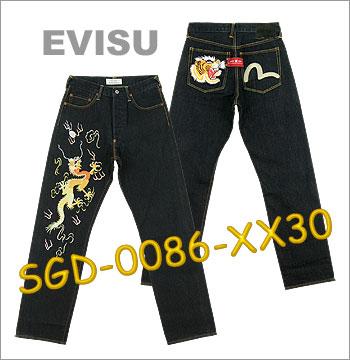■ EVISU SGD-0086-XX30刺绣牛仔裤