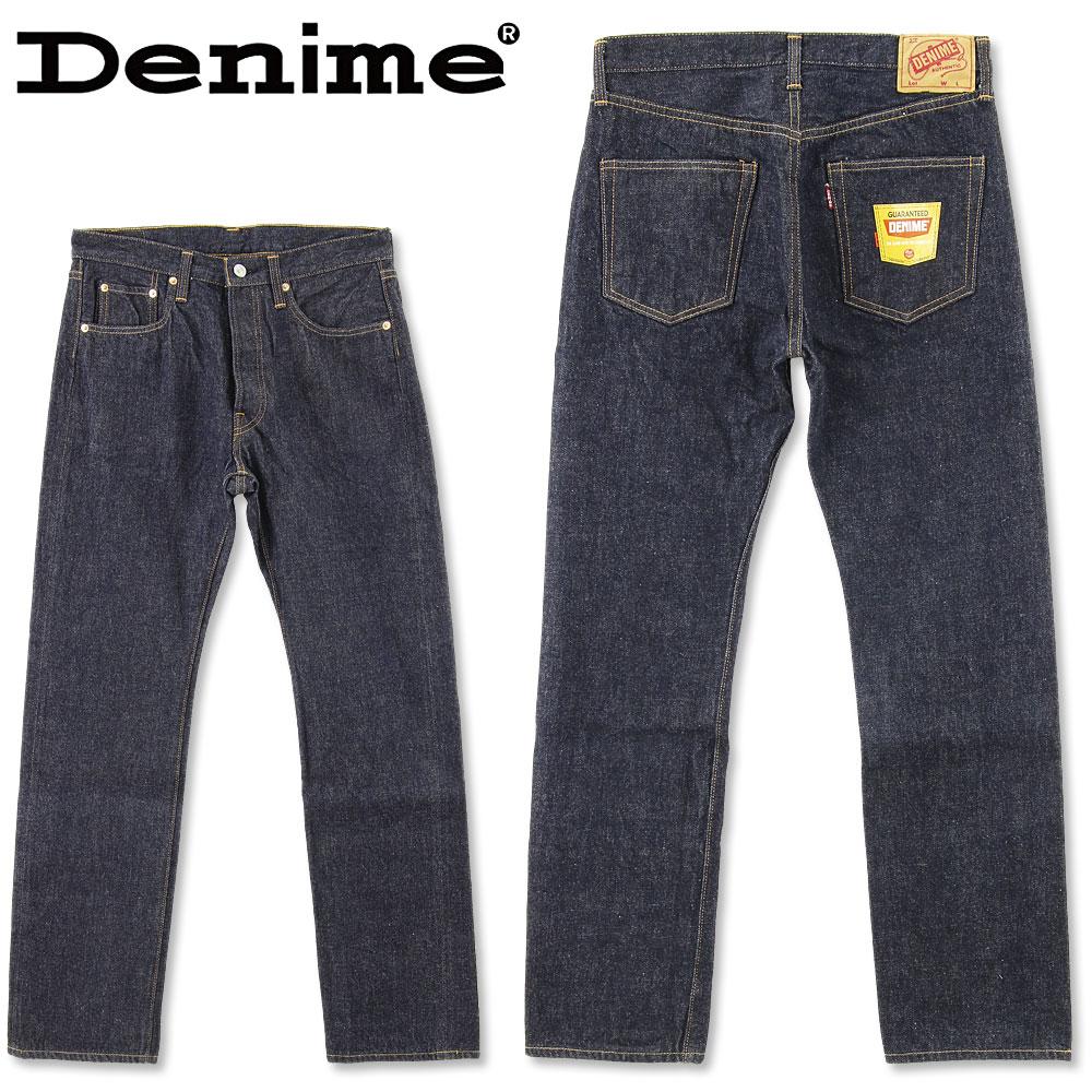 ドゥニーム (DENIME) 66 MODEL (W31~W34inch) [DP15-003] DENIME (ドゥニーム) 66 MODEL (W31~W34inch)[DP15-003](やや細めのストレート/ワンウォッシュ/日本製/デニム/JEANS/メンズ/セルビッチ)