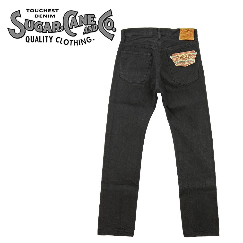 商店 半額 SUGAR CANE シュガーケーン SC41470 13oz. 細身のブラックジーンズ ブラックデニム TYPE-3 ジーンズ ワンウォッシュ やや細め おしゃれ アメカジ 日本製 スリムフィット メンズ