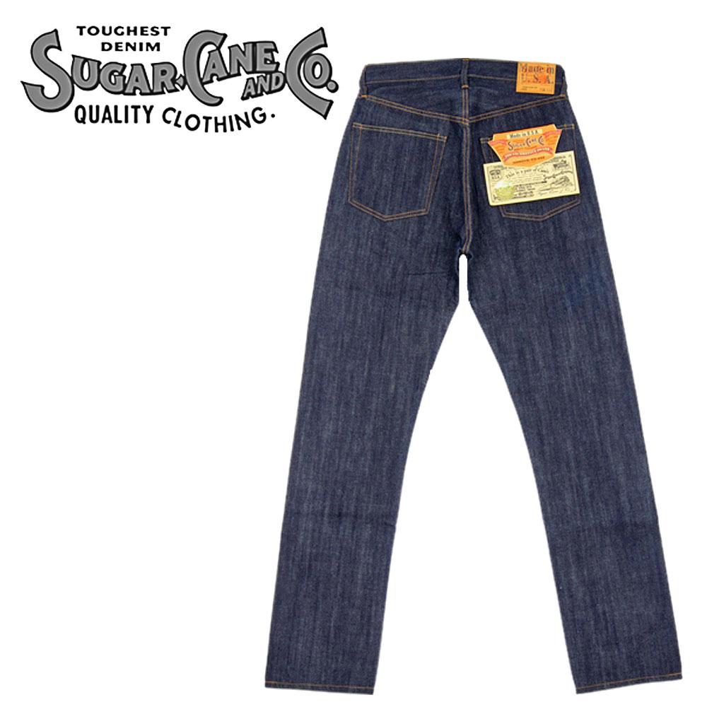 ■ SUGAR CANE(シュガーケーン) [SC41966N] ☆ 66モデル Jeans ☆ [アメリカ製] (ノンウォッシュ/ジーンズ/JEANS)