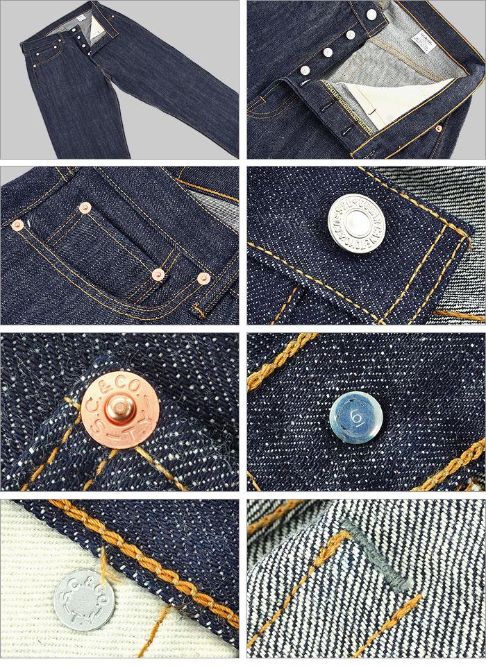 ■ SUGAR CANE(shugaken)[SC41966N]☆66型号Jeans☆[美国制造](无洗涤/牛仔裤/JEANS)