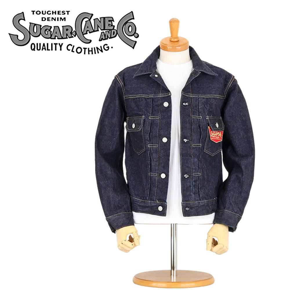 シュガーケーン Gジャン SC11953A セール価格 SUGAR 限定価格セール CANE DENIM JACKET ジージャン メンズ Type ワンウォッシュ デニムジャケット 2nd 日本製 1953年モデル