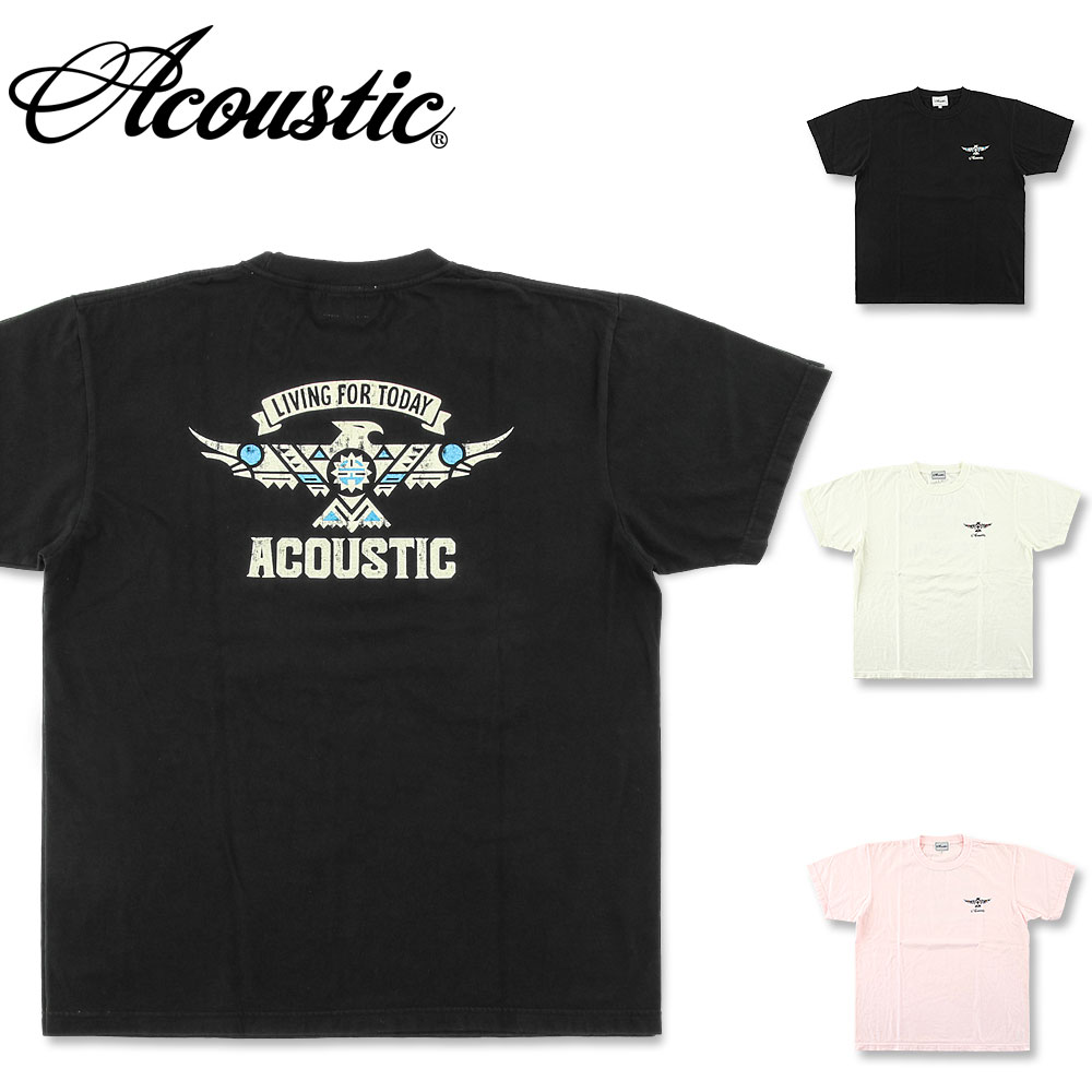 ACOUSTIC アコースティック 人気ブランド多数対象 イーグル 半袖Tシャツ AC21207 Tシャツ 半袖 プリント メンズ 2020秋冬新作 アメカジ