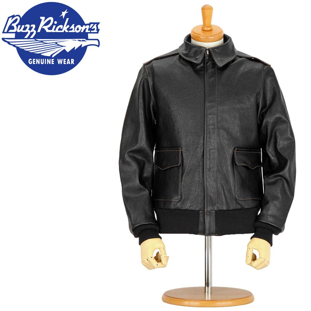 ■ BUZZ RICKSON'S ☆ ウィリアム・ギブソン コレクション ☆ 「BLACK A-2(LONG) 」【BR80357】(レザージャケット/フライトジャケット)
