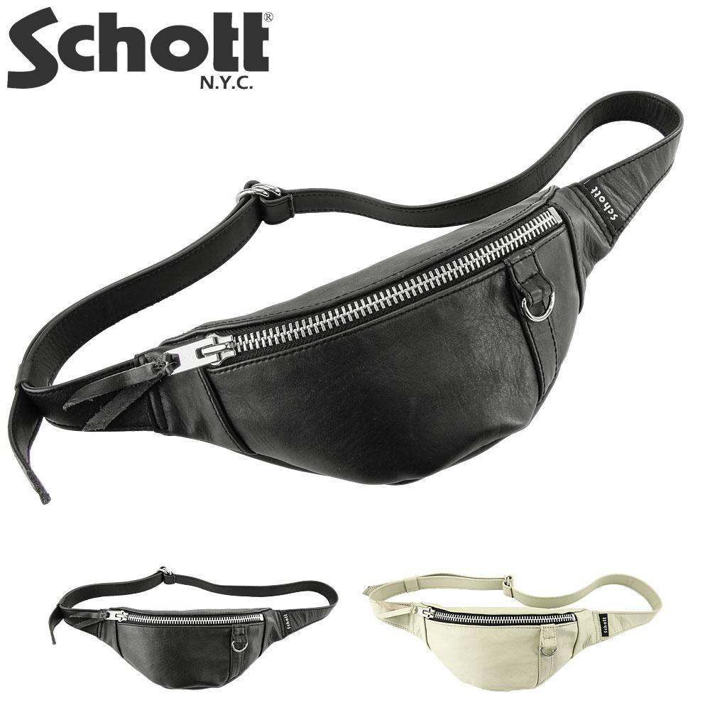 ショット(SCHOTT) レザー スモール ボディバッグ [3189028](本革 アメカジ メンズ レディース BAG)