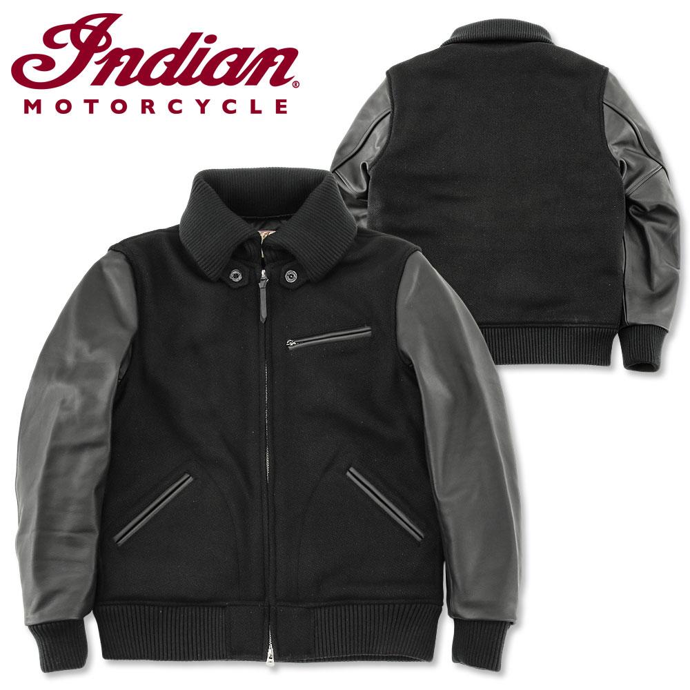 Indian Motorcycle (インディアン モーターサイクル) ドンキーリブ 30oz ウールメルトン ジャケット [IM14473](中綿/スタジャン/アワードジャケット/メンズ/アメカジ/バイカー)