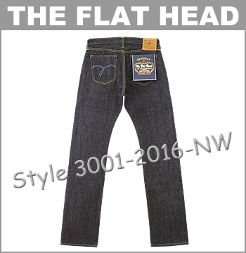 ♦ THE FLAT HEAD (Flathead) Classic (3001-2016) Lot.3001 Tight Fit Straight Jeans  [Made in JAPAN] (Raw / Unwashed) (Denim / Selvage / JEANS / 014.5 oz / Tapered)