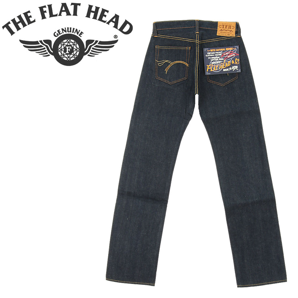 ■ THE FLAT HEAD (The Flat Head) 3005-A 15th Anniversary Limited Edition  Jeans (14 5oz Indigo Denim MIX) [Made in JAPAN] (Raw / Unwashed)