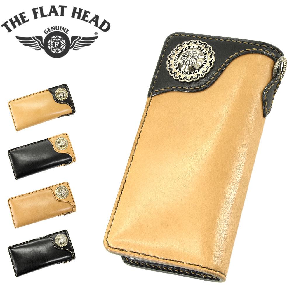 THE FLAT HEAD (フラットヘッド) 多脂革 ロングウォレット [FH-WL004C] (本革/レザー/ウォレット/長財布/財布/コンチョ/日本製)