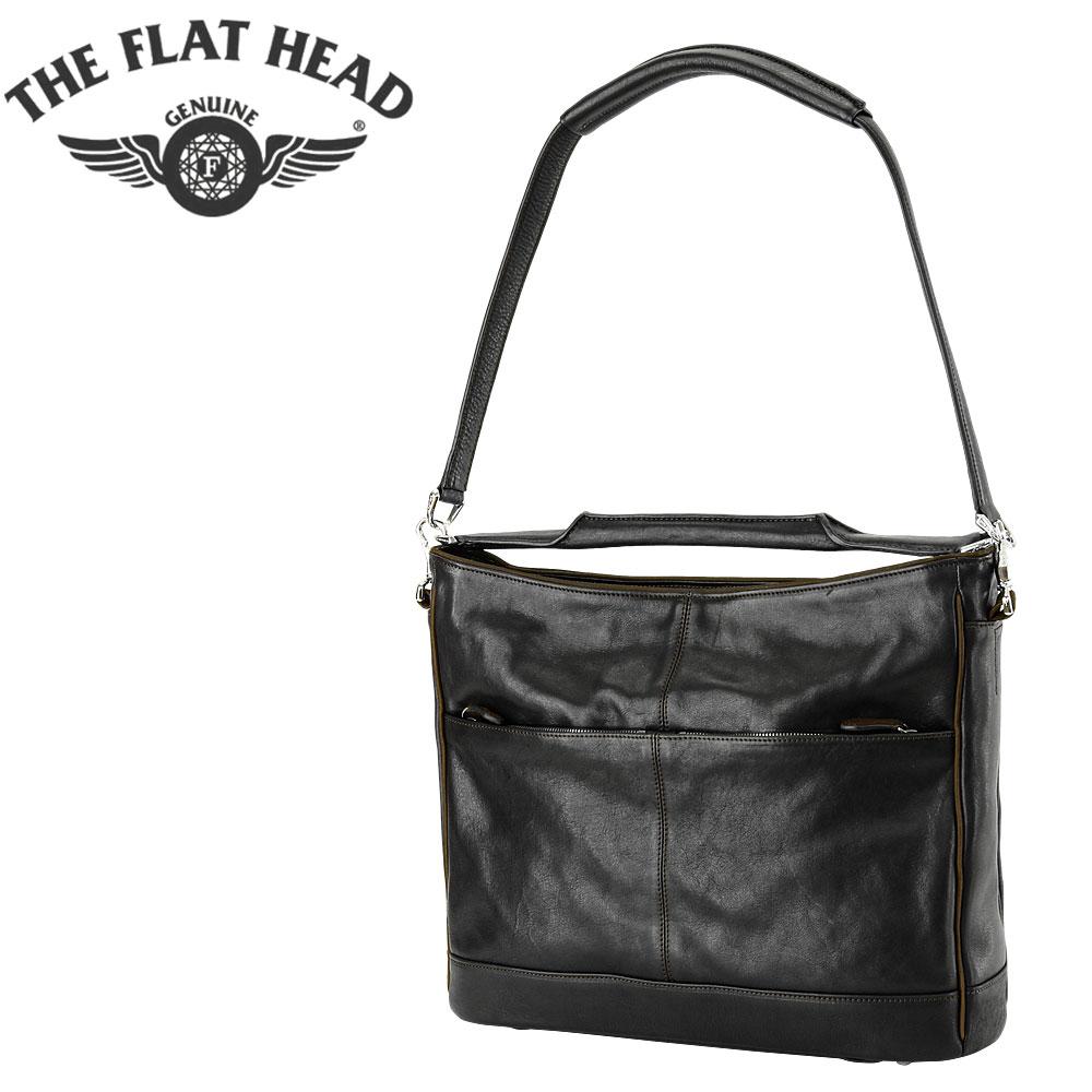 THE FLAT HEAD (フラットヘッド) オイルシュリンクレザー 2WAY バッグ [WSB-001](ショルダーバッグ/手提げバッグ/本革/レザー/日本製/BAG)