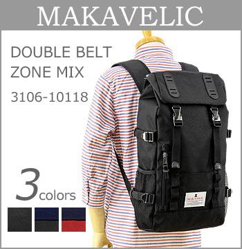 ■ MAKAVELIC (マキャベリック リュック)(3106-10118)DOUBLE BELT ZONE MIX 24L(バックパック/デイパック/メンズ/レディース/通勤・通学/ストリート)