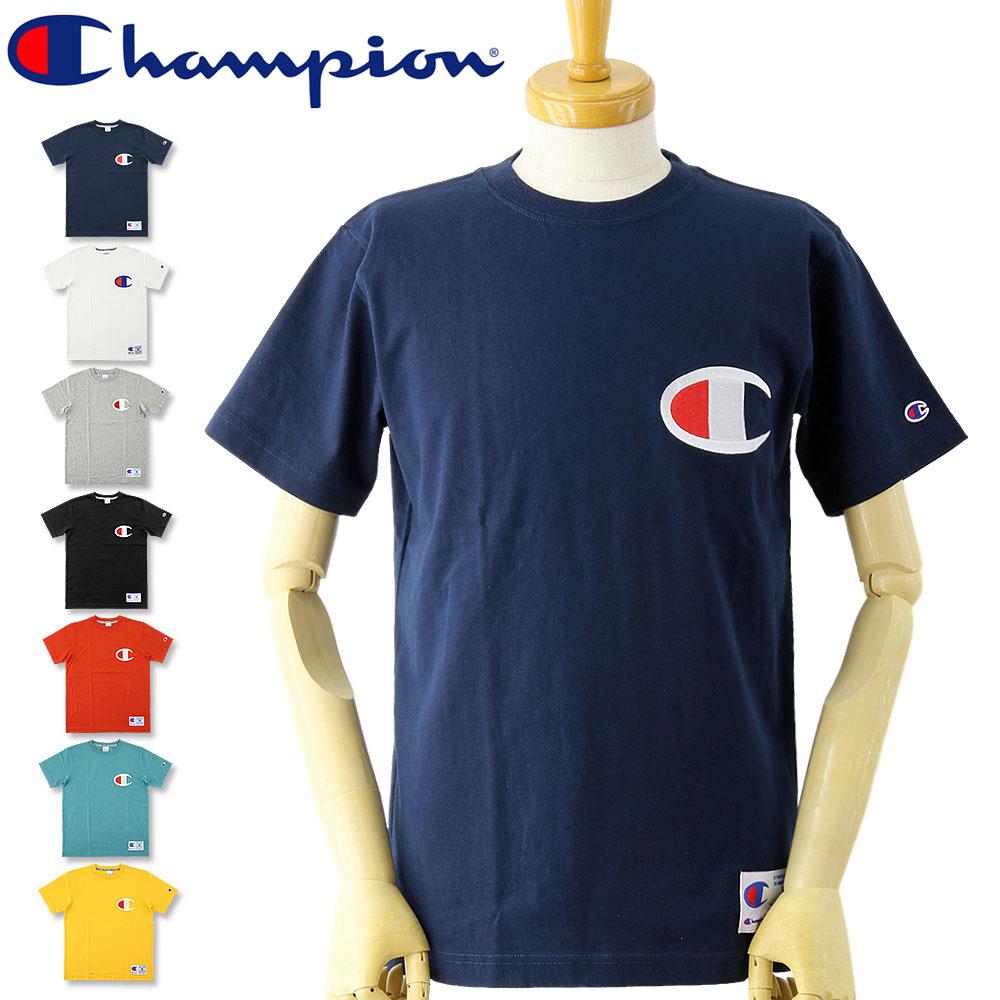 ゆうメールなら送料→180円 チャンピオン ビッグロゴ 半袖Tシャツ アクションスタイル SALE セール 大人気 CHAMPION Tシャツ 特価 メンズ 人気アイテム 爆安 レディース お買い得 半袖Tシャツ アメカジ C3-F362 SST