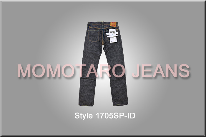"■ MOMOTARO JEANS (momotaro jeans) 桃太郎ジーンズ [1705SP] Tight Fit Straight Jeans, 10oz. Special Deep Color ☆ 出陣 (Shutsujin) ""Departure for the front"" Lavel ☆ [Made in JAPAN] (Washed) (Low rise)"