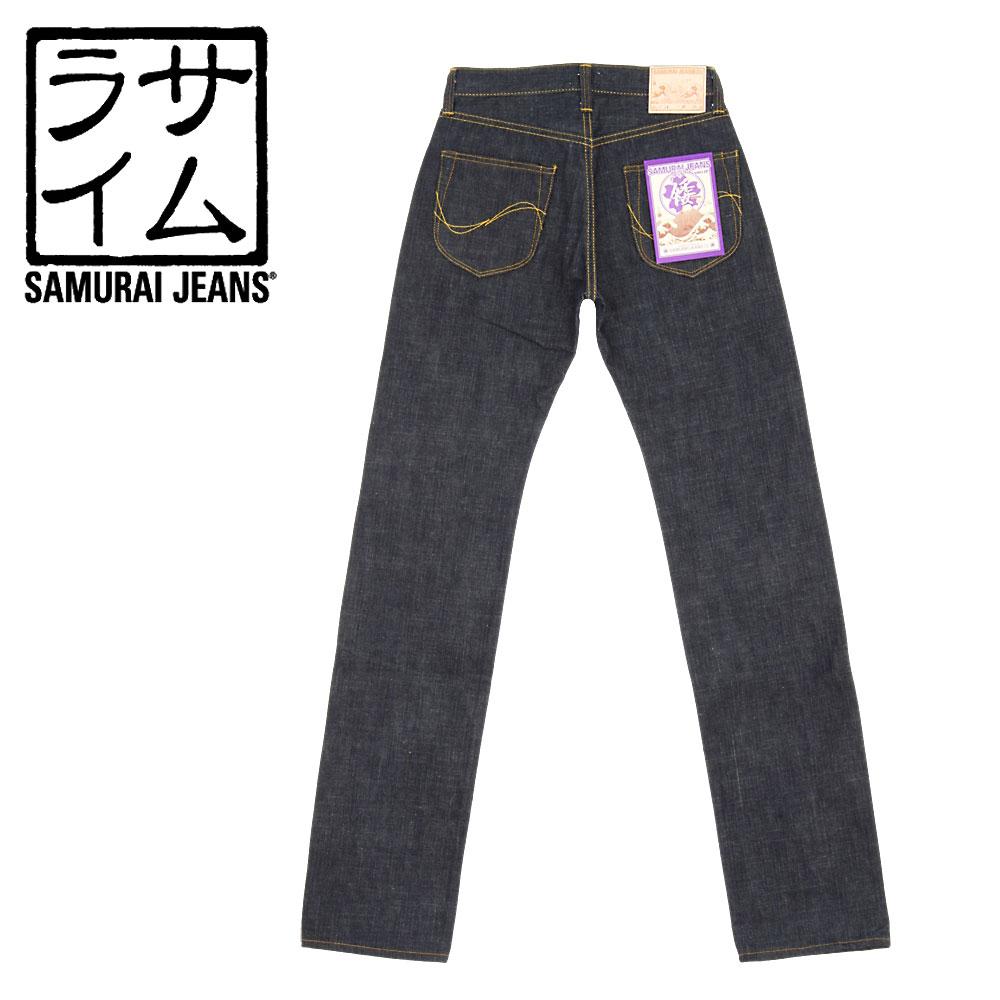 ■ SAMURAI JEANS(サムライ ジーンズ)やや細身のストレート S001JP(ノンウォッシュ)「倭(YAMATO)」15oz 倭魂セルビッチデニムジーンズ(日本製)