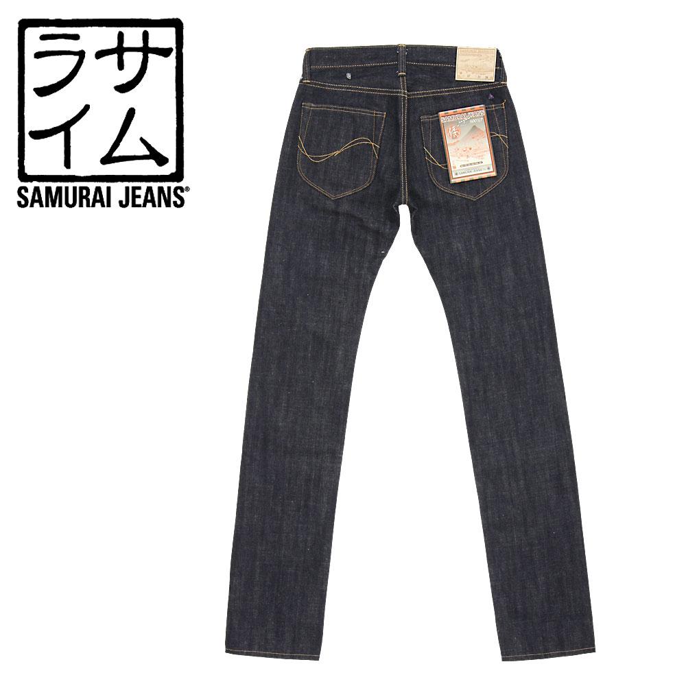 ■ SAMURAI JEANS(サムライ ジーンズ)股上浅め、細めのスリムストレート「倭(YAMATO)」15oz 倭魂セルビッチデニムジーンズS003JP(ノンウォッシュ)(日本製)